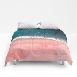 Turquoise Sea Pastel Beach III Comforters