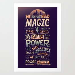 Imagine Better Art Print