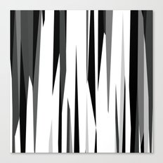 Black White and Gray Abstract 2 Canvas Print
