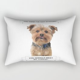 You Should Meet My Yorkie | Dogs | Nadia Bonello | Canada Rectangular Pillow
