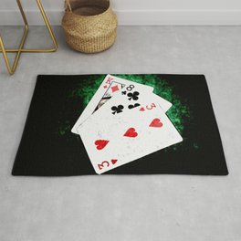 Blackjack Card Game, 21 Count, King Eight Three Combination Rug