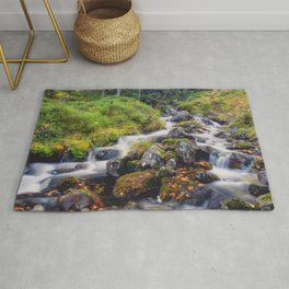 Mountain stream Rug