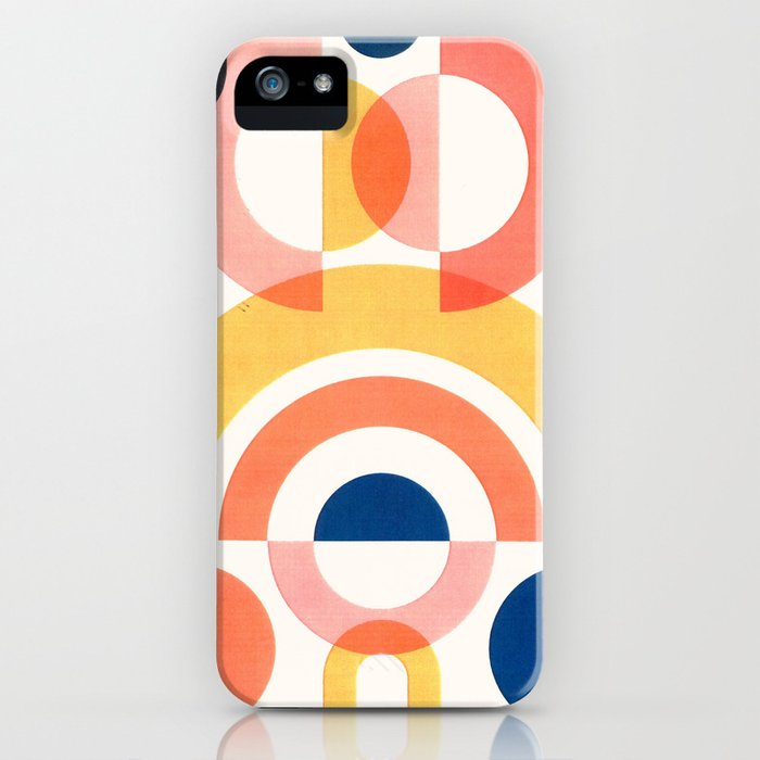Circles and Rainbows iPhone Case