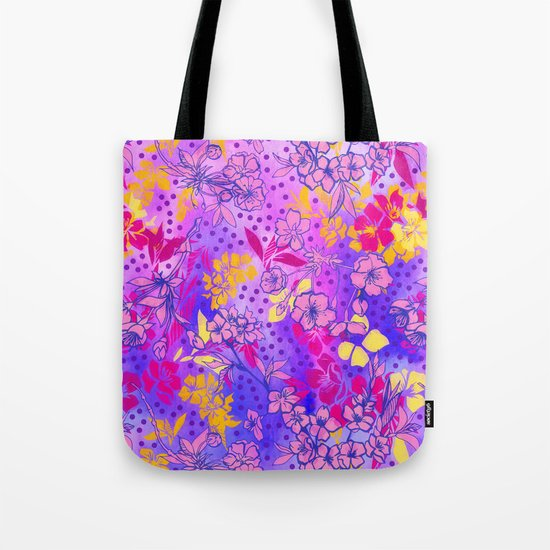 Colorful cherry blossoms Tote Bag