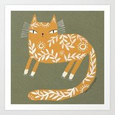 FANCY YELLOW Art Print
