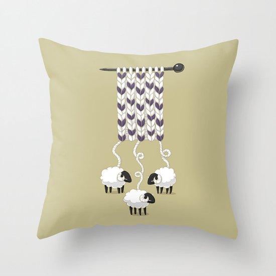 Wool Scarf Throw Pillow