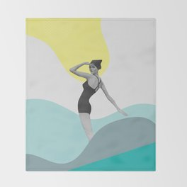 Swimmer Collage Throw Blanket