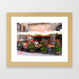 European Cafe Montepulciano Framed Art Print