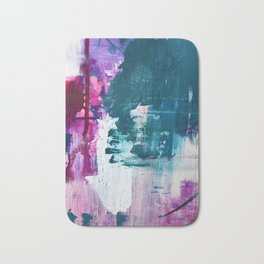 Complexity: a pretty abstract mixed-media piece in teal and purple by Alyssa Hamilton Art Badematte