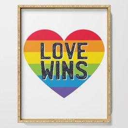 Pride LGBTQI - Love Wins Serving Tray