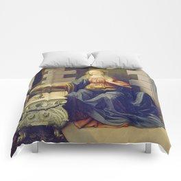 "Leonardo da Vinci ""Annunciation 2."" Comforters"