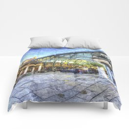 Covent Garden London Oil Art Comforters