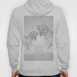 Beautiful dolphin, mandala design Hoody