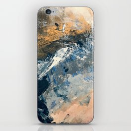 Wander [3]: a vibrant, colorful abstract in blues, pink, white, and gold iPhone Skin