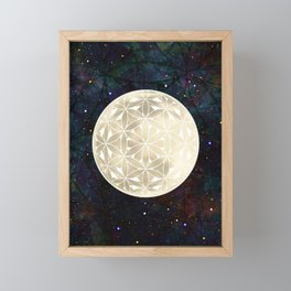 The Flower of Life Moon 2 Framed Mini Art Print