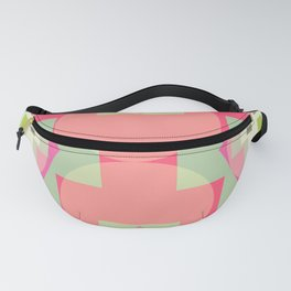 Light shapes in pink Fanny Pack