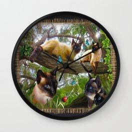 Sophie's Garden Wall Clock
