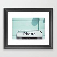 Retro Phone Framed Art Print