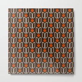 November Leaves - Pattern Metal Print