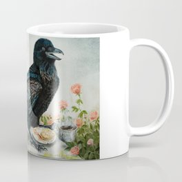 Breakfast With the Raven Coffee Mug