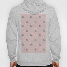 Happy Polka Dots Silver on Blush #1 #decor #art #society6 Hoody