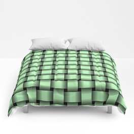 Small Light Green Weave Comforters