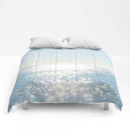 Electric Blue Ocean Comforters