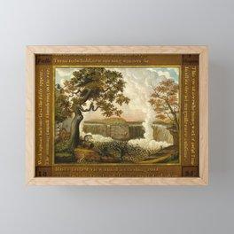 Edward Hicks The Falls of Niagara Framed Mini Art Print