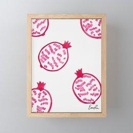 Patterns of Pomegranates Framed Mini Art Print