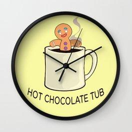 Hot chocolate tub Wall Clock
