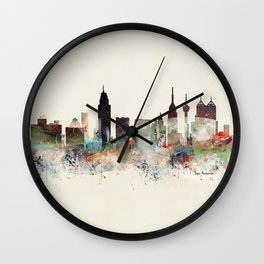 san antonio skyline Wall Clock