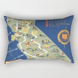 CALIFORNIA University map MAP Berkeley Rectangular Pillow