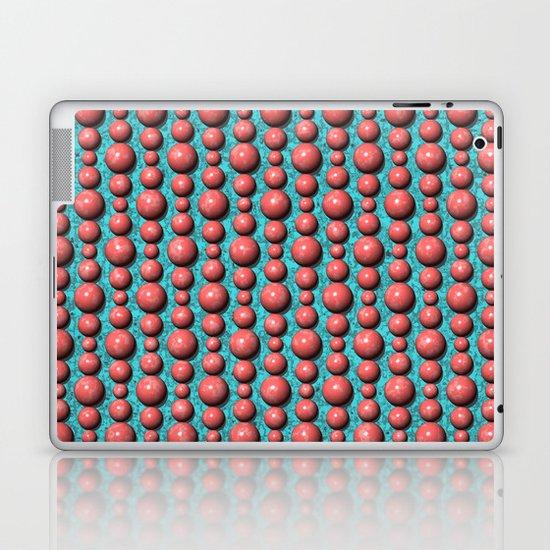 Bead Pattern, Coral & Turqoise Laptop & iPad Skin