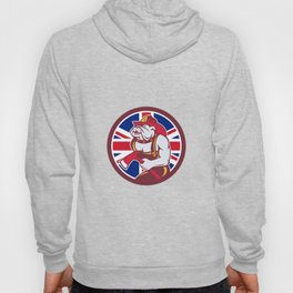 British Bulldog Fireman Union Jack Flag Icon Hoody