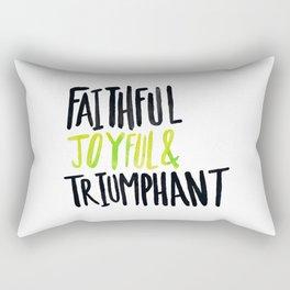 Faithful Joyful and Triumphant x Lime Rectangular Pillow