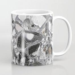 Silver Mirrored Mosaic Coffee Mug
