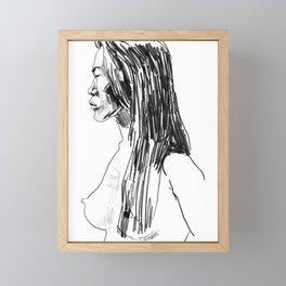 Thai Woman in Profile Framed Mini Art Print