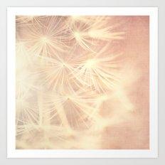All is Full of Love. dandelion seeds photograph Art Print