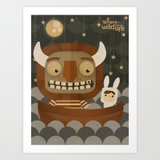 Where the wild things are fan art Art Print