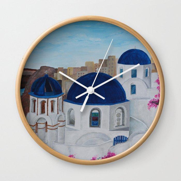 Church in Greece Wall Clock