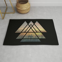 Sacred Geometry Triangles - Magical Misty Nature Rug