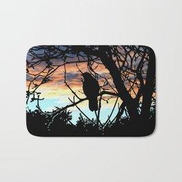 SUNSET BIRD Bath Mat