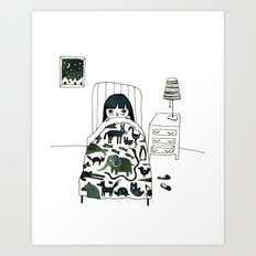 Animal Fear Art Print
