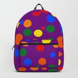Gay Pride Scattered Varied Polka Dots Backpack