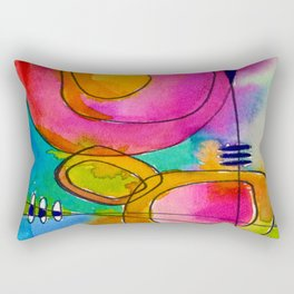 Magical Thinking No. 2B by Kathy Morton Stanion Rectangular Pillow