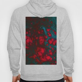 Swirls and cells in red and blue Hoody