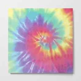 Faded Spiral Tie Dye Metal Print