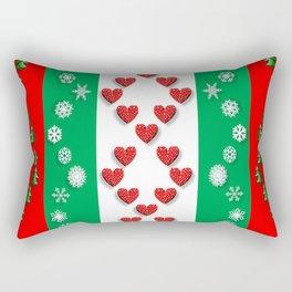 Christmas snowflakes trees Rectangular Pillow