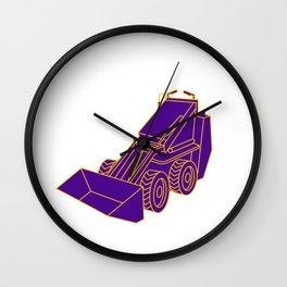 Compact Skid Steer Mono LIne Wall Clock