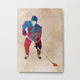 hockey player #hockey #sport Metal Print